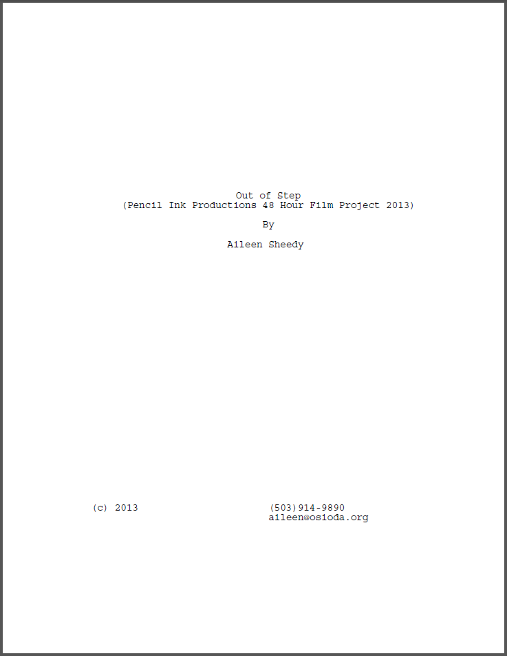 Out of Step (48HFP) title page